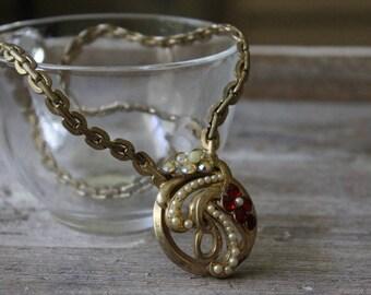 Antique Art Deco Necklace, 1930's Art Deco Necklace, Vintage Art Deco Necklace, Free Shipping