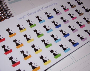 Kitty Litter Stickers / Cat Stickers / Litter Box Stickers / Planner Stickers