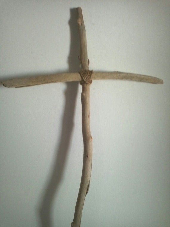 Large Driftwood Cross w/Rope Center-SOLD another one can be custom made