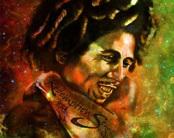 Bob Marley print on aluminium sheet table, wall decor, frame, illustration, drawing, design, modern, trendy, artwork