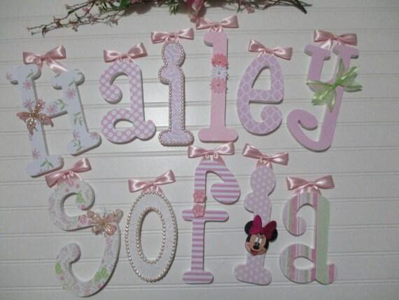 HAILEY SOFIA 12.00 por nombre niña Letras de madera fuente