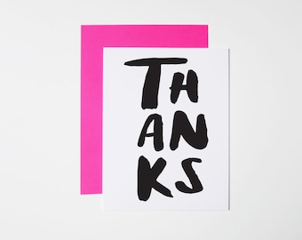 Thank You Card- Brushed Thanks
