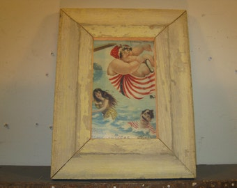 SHABBY ARCHITECTURAL Chic Salvaged Recycled Wood Photo Picture Frame 4x6 S-308