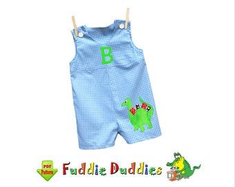 Baby Boys Romper Pattern, Jon Jon Pattern. Baby Pants Pattern pdf. Boys Sewing Pattern. Toddler Pattern. Digital Download Pattern. Zachary
