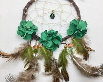 handmade dream catcher, boho dream catcher, all natural hemp twine, feather dream catcher,