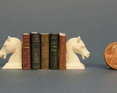 Horses Dollhouse Miniature Set of Bookends