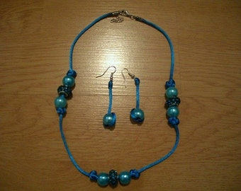 Blue Necklace Earrings Matching