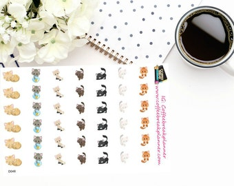 Planner Stickers  Adorable Cat Stickers for your planner  Cat Stickers Pet Care Stickers Cat Care Stickers  D048