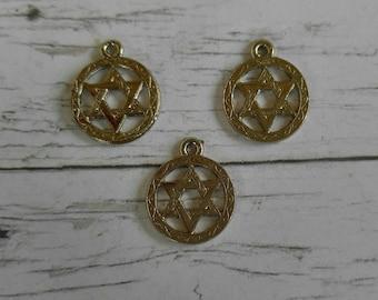 Jewish Star Charm// Star of David Charm// Jewish Charms// 3pieces
