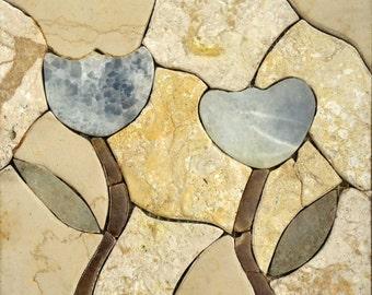 White Duo Stone Mosaic