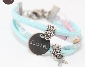 Bracelet child girl Liberty Betsy Celadon
