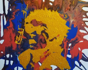 Recording Day - Musician - Poured Acrylic Painting