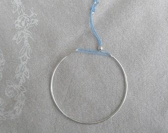 "Bracelet half silver simple band ""Minimalist"""