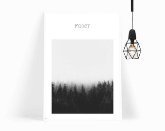 Wall Art, Wall Decor,Print,Art Print,Poster,Woodland,Botanical Print,Forest,Nordic,Gift For Her,Gift For Him,Minimalist Poster,Printable Art