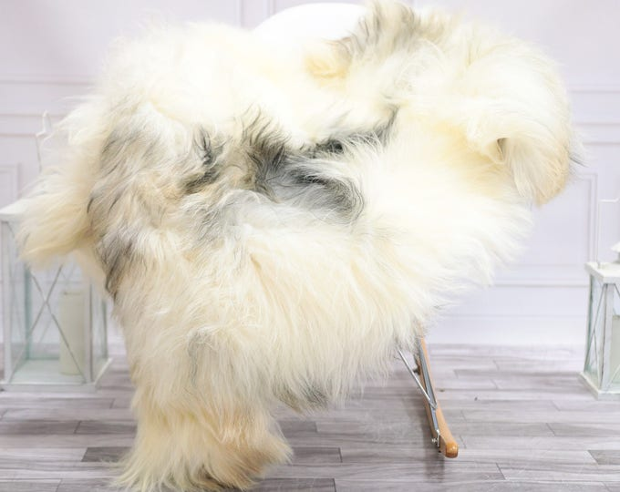 Icelandic Sheepskin | Real Sheepskin Rug | Ivory Gray Sheepskin Rug | Fur Rug | Christmas Decorations #TADISL16