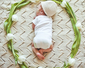 The Classic Baby Blanket in Organic Cotton
