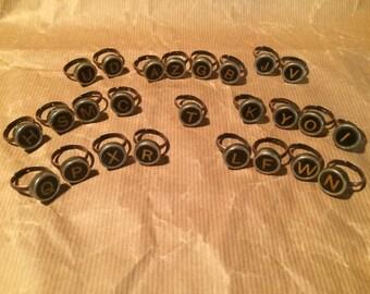 Black Typewriter Ring Series II