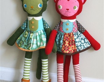 Katy Kitty PDF Pattern With Bonus Coat Pattern