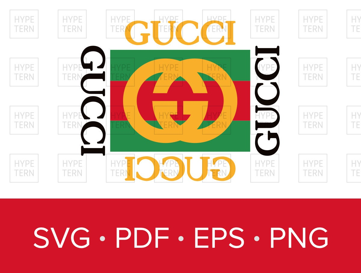 gucci vintage inspired logo vector art svg pdf eps png format rh etsy com logo gucci vectorizado gucci logo vector art
