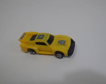 Collectible Vintage Toyota RX-7 Yellow Matchbox Toy Car Playboy Ladybug Logo Made In Hong Kong, Playmates, 80s, 90s, Racecar