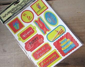 Scrapbook Chipboard Embellishment Peel N Stick Craft Supply Happy Birthday