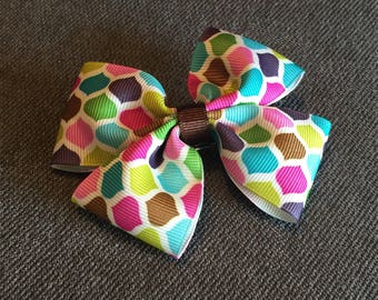 Colorful Moroccan Tile Hair Bow