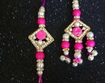 Designer handmade couple rakhi