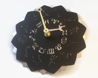 Zodiac Clock - An Astrology Clock with Zodiac Constellations and Symbols - A great wall clock gift for astrologers
