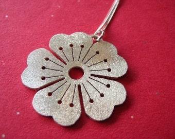 Big Sparkling Sakura Pendant