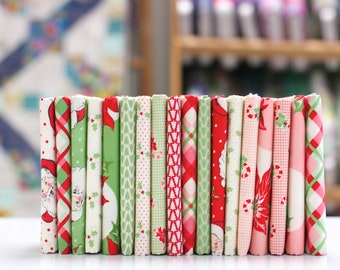 Swell Christmas - Fat Eighth Bundle - by Urban Chiks for Moda (18 pieces)