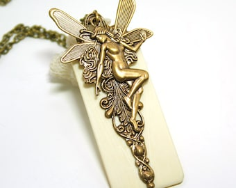 Repurposed Antique Piano Key Necklace Fairy Necklace Piano Key Jewelry