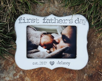 Personalized First father's day gift frame gift dad Custom Happy fathers day Picture frame gift for dad grandpa gifts gifts for papa