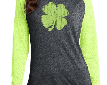 St. Patrick's day shirt, Four leaf clover, t-shirt, Lucky, college, St Patrick's day Shirt, Woman's, T Shirt, Screen Printed