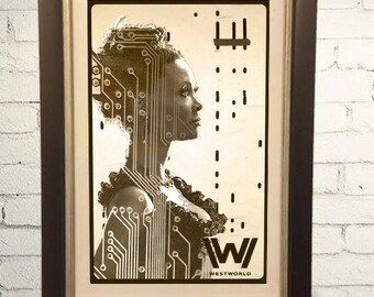 Westworld HBO Vintage Style Maeve Poster Print Retro  11x17