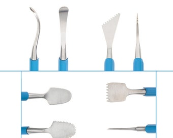 Ultimate Joining and Smoothing  Clay Tool Set, Marrying Clay, Joint Smoothing, Scoring Tool, Serrated Scrapers, Score and Slip, Xiem