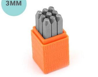 Basic Numbers Metal Stamp Set - ImpressArt - 3mm Number Stamps - Sans Serif Font