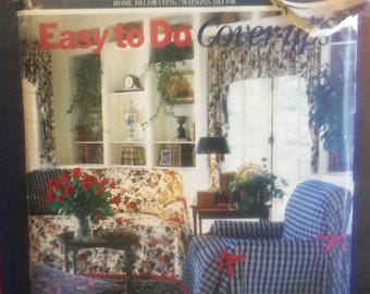 Butterick 161 Cover-Ups Furniture Throws & Pillow Sewing Pattern - Uncut