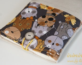 Cats, kitten kindle or tablet sleeve, kindle pouch kindle cover, padded
