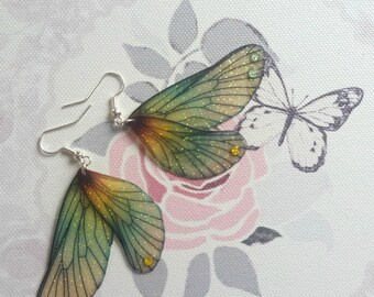Beautiful Woodland Fae Wing Earrings