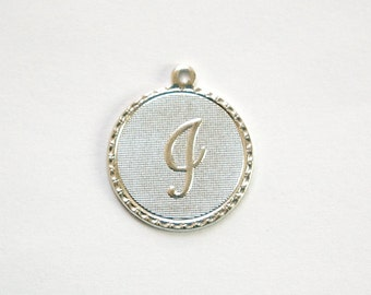 """Matte Silver Plated Letter """"i"""" Initial Charm Drop with Loop (1) chr197i"""