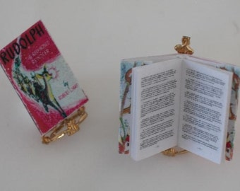 Rudolph the Red Nosed Reindeer Miniature Dollhouse Book