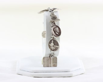 Sterling Silver Bell Telephone Company Charm Bracelet