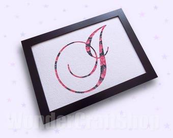 I J K L, Custom Monogram Letter, Personalized Gift for Women, Mom's Gift, Quilled Letter, Wall Initial, Letter I, Monogram J, Letter K, L