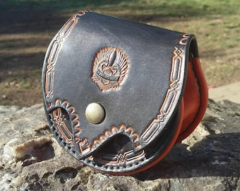 """Wallet theme"" motorcycle ""with leather belt loop."