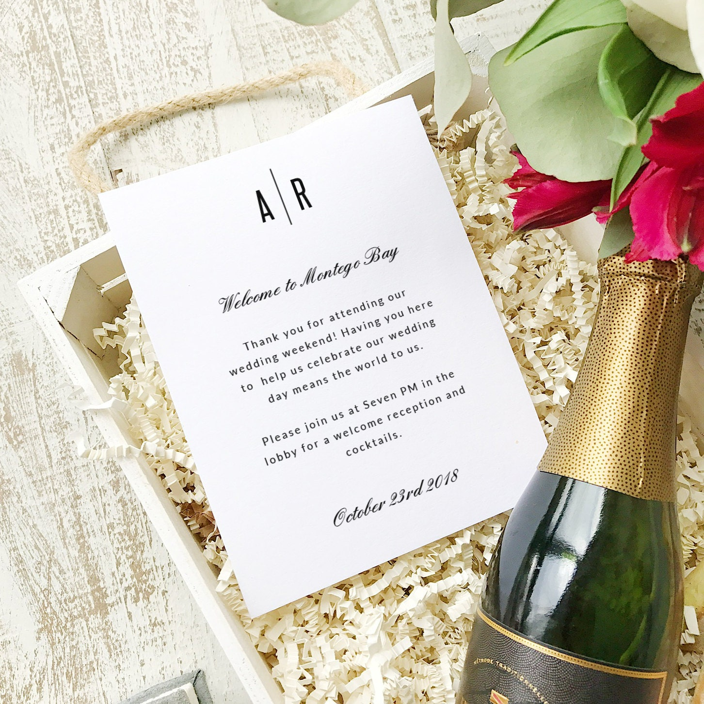 Wedding Welcome Note, Printable Wedding Welcome Bag Letter, Thank ...