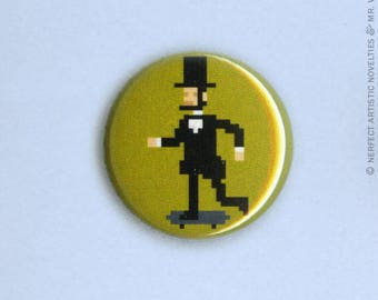 "Sk8braham Lincoln 1"" Pin-Back Button"