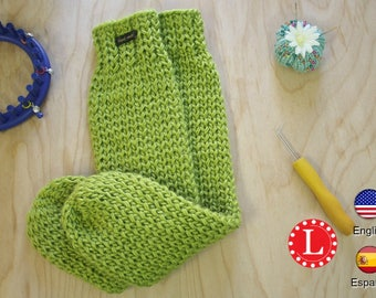 Loom Knitting Pattern Tube Socks with Video Tutorial by Loomahat