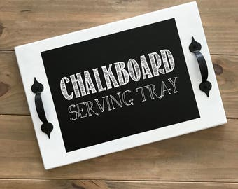 Chalkboard Serving Tray / Serving Tray / Chalkboard / Tray / Bed Tray / Appetizer Plate / Tea Tray / Coffee Server
