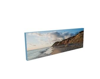 Beach Photography Decor, Aquinnah Moshup Beach Gay Head Cliffs Martha's Vineyard, Canvas Print, Wall Art, Gift for wife, husband, Man Cave