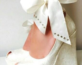 Wedding , Wedding Shoes, Bridal Wedge Shoes,Bridal Shoes, Bridal Wedge Shoes,  Ivory Wedding Shoes, Ivory Lace Wedges, Wedding Wedges